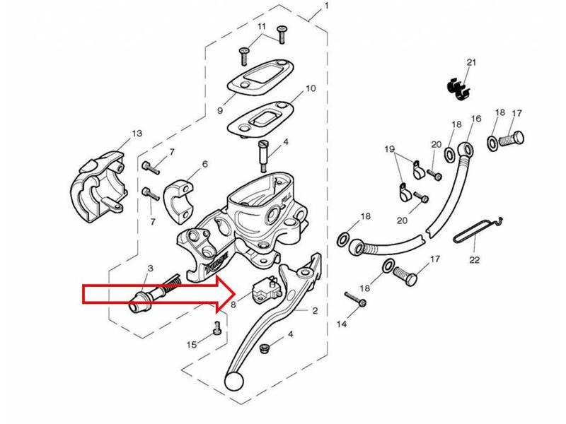 Brake light switch all Triumph models