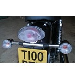 Smoked grey / clear Triumph turn signals
