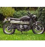 """MASS Moto Ligne inox """"Mohave"""" pour Triumph Twins"""