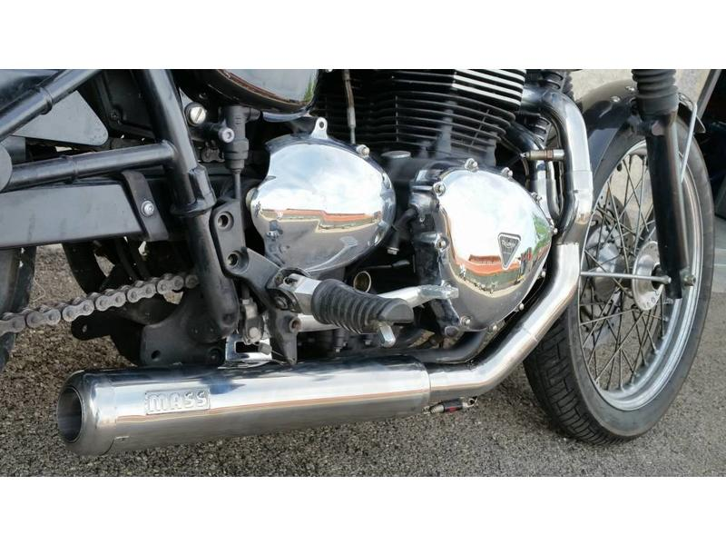 """MASS Moto """"Cross"""" 2-into-1 Exhaust Line (stainless steel)"""