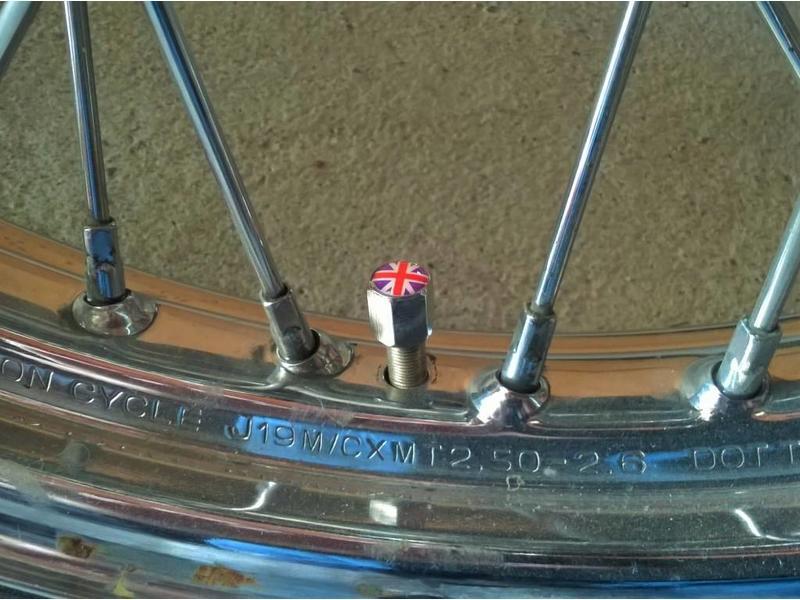"""Bouchons de valve """"Union Jack"""" (paire)"""