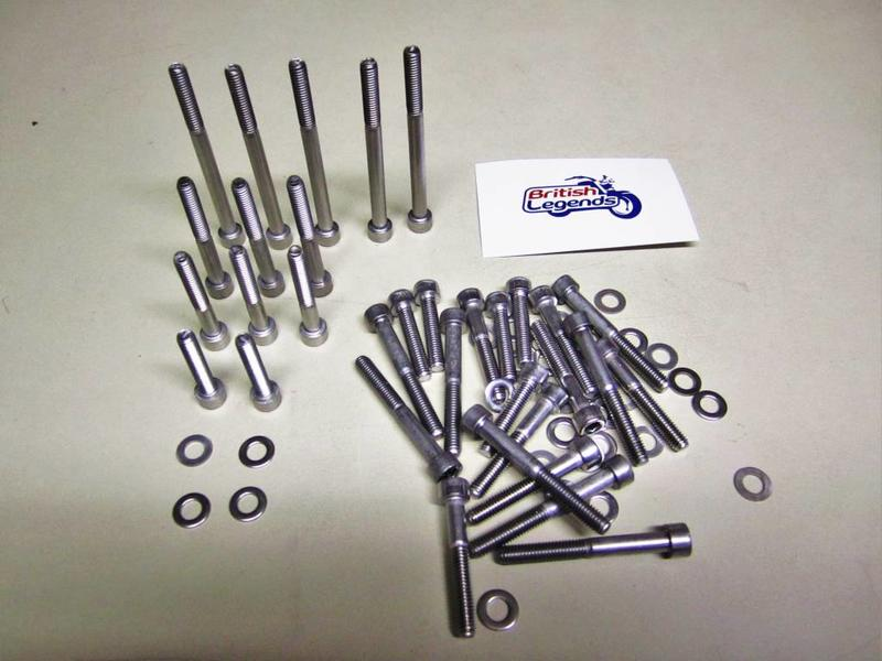 Stainless steel housing bolts (complete set 33 pieces)