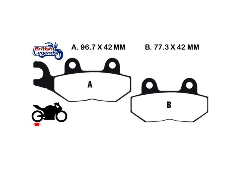 "EBC EBC Sintered brake pads ""HH"" for Triumph America"