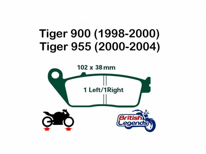 Plaquettes de freins pour Triumph Tiger 900/955
