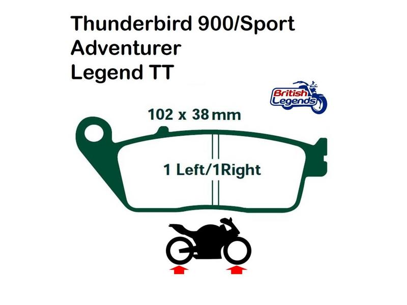 Brake Pads for Triumph Adventurer and Legend TT