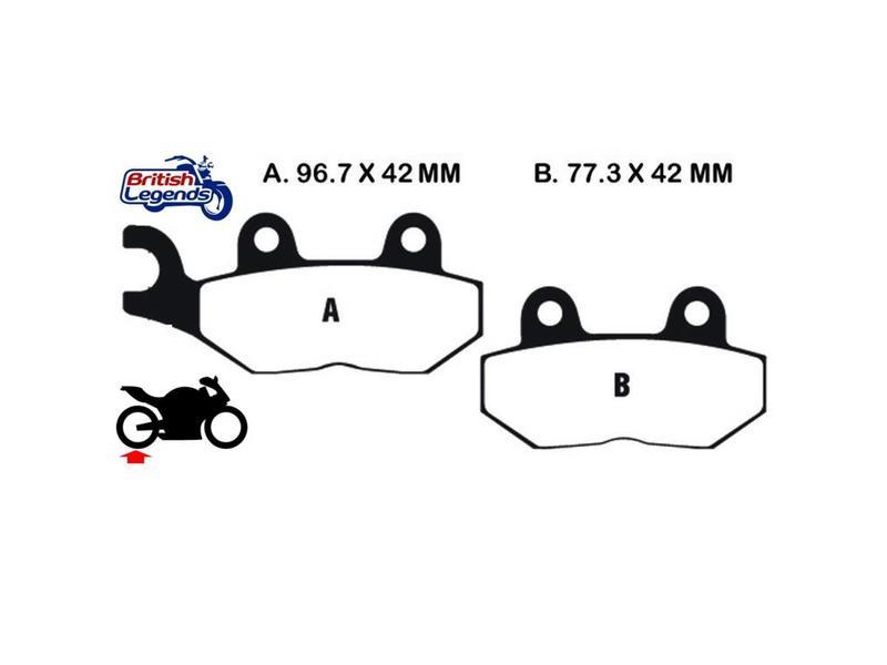 Sintered Brake pads for Triumph Thruxton 900