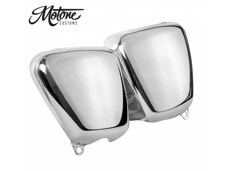 Motone Side Covers in Hand-Polished Aluminium