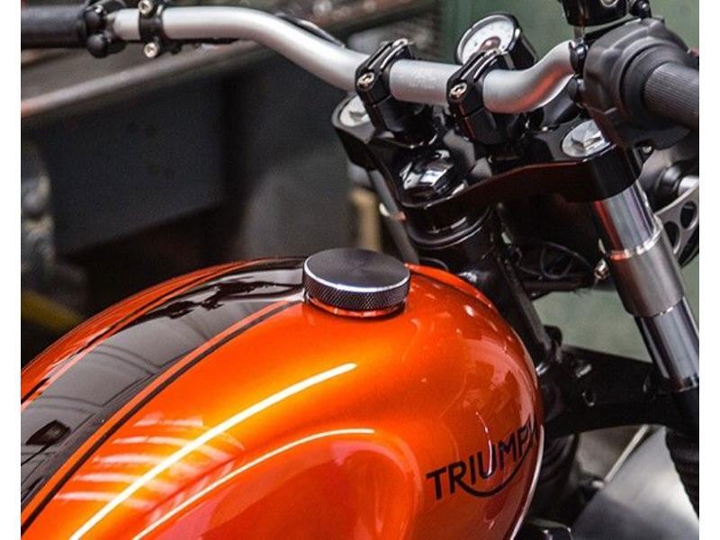 """Motone """"Flat-Track"""" Fuel Cap black/alloy"""