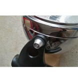 Headlight mountings (alloy + st/steel, complete set)