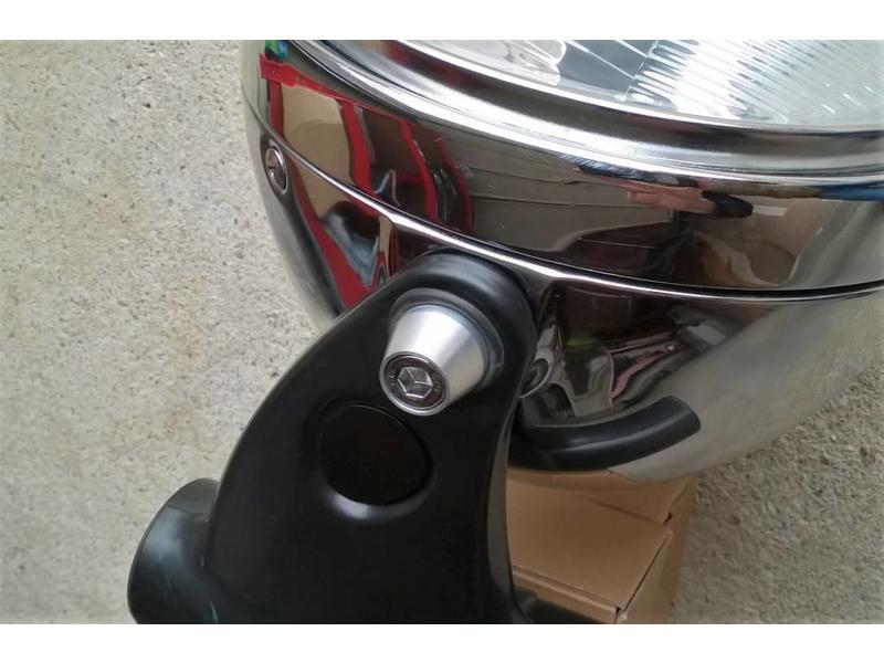 Headlight mountings (alloy + st/steel, complete set)