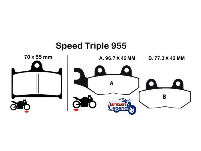 Plaquettes sintérisées pour Speed Triple 955 et 1050