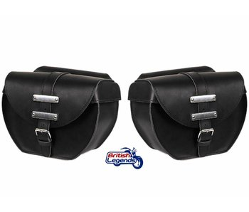 """Big Apple"" Leather Saddlebags"