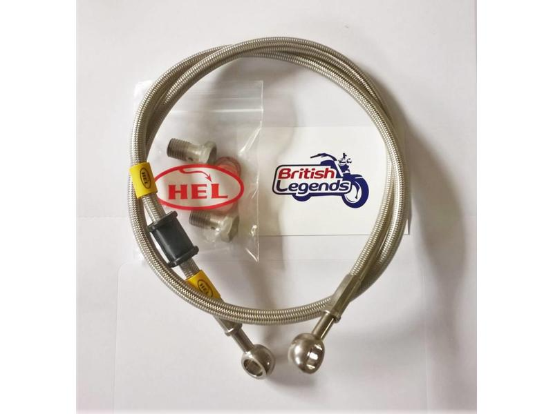 Braided Stainless-Steel Brake Hoses for Triumph Twins