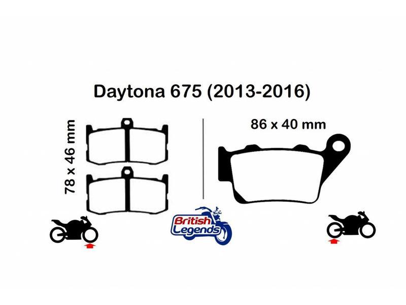 """EBC Plaquettes EBC sintérisées """"HH"""" Triumph Daytona 675"""