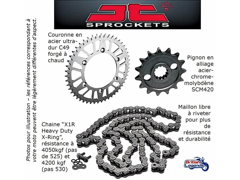 JT Sprockets Chain & Sprocket Kit for Triumph Speed ​​Triple