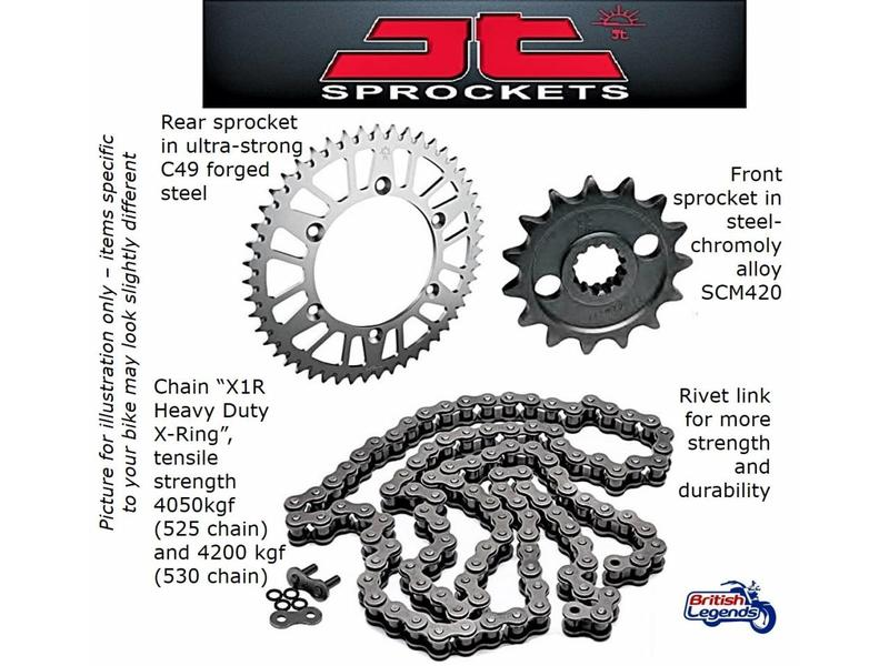 JT Sprockets Chain & Sprocket Kit for Triumph Tiger