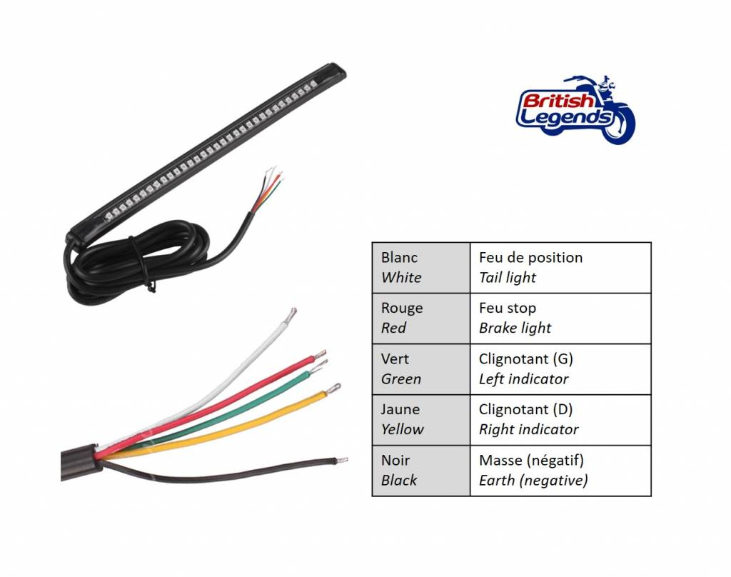 Motorcycle Led Tail Light Strip Wiring Diagram Ca Maintenance Rear Brake How To Wire On Oznium Lights