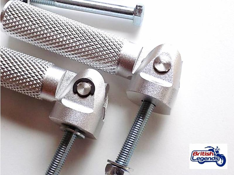 Solid Alloy Footrests for Triumph motorcycles