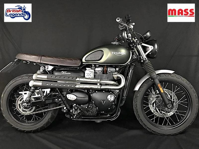 "MASS Moto ""Mohave"" Exhaust Line for Triumph Street Scrambler"