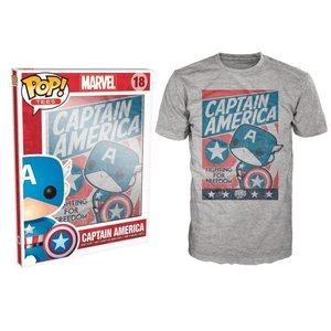 Pop! Marvel Pop! Tees: Captain America Fighting for Freedom XXL