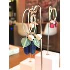 Gem Fields Lapis & Jade - oorbellen zilver