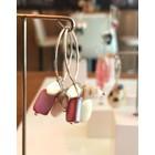 Saint Tropez Pink - oorbellen zilver