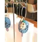 Jungle Skulls Turquoise - oorbellen zilver