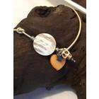 Jungle Skulls Orange Pearl - armband