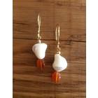 Bonclou Gold Apricot - oorbellen goud