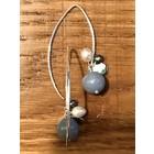 Angelite - oorbellen zilver