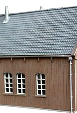 Grote houten schuur
