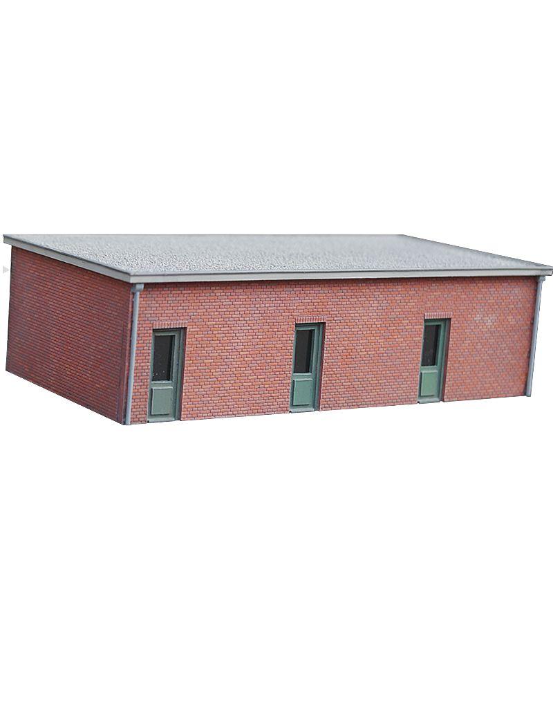 Baksteen garage plat dak