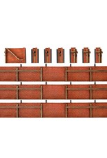 Sheet pile of bricks