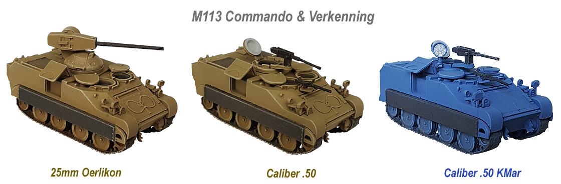 M113 C&V 25mm Oerlikon, Caliber .50, KMar
