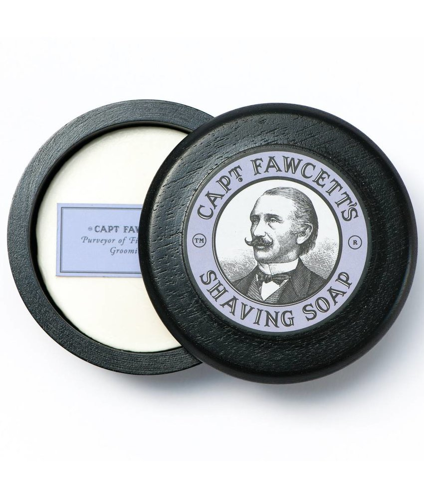 Captain Fawcett Shaving Soap Wooden Bowl