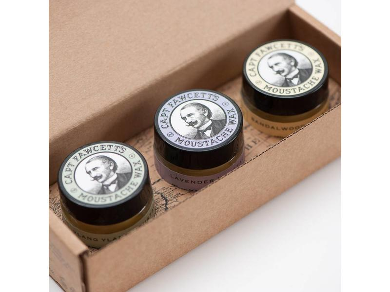 Captain Fawcett Moustache wax Gift Set Cornucopia
