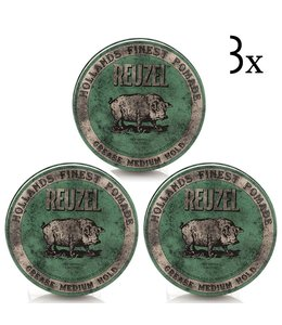 Reuzel Green Grease Medium Hold 3-pack