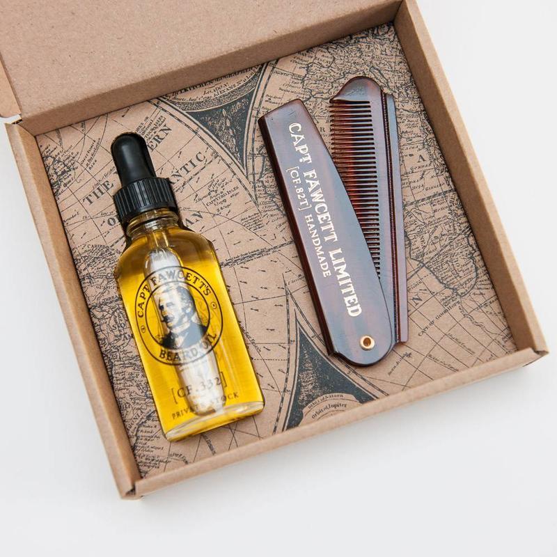 Captain Fawcett Beard Oil & Comb Giftset