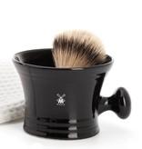 Muhle Scheerkom Zwart Porselein met handvat