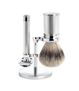 Muhle Set Safety Razor - Silvertip - RVS (3-delig)