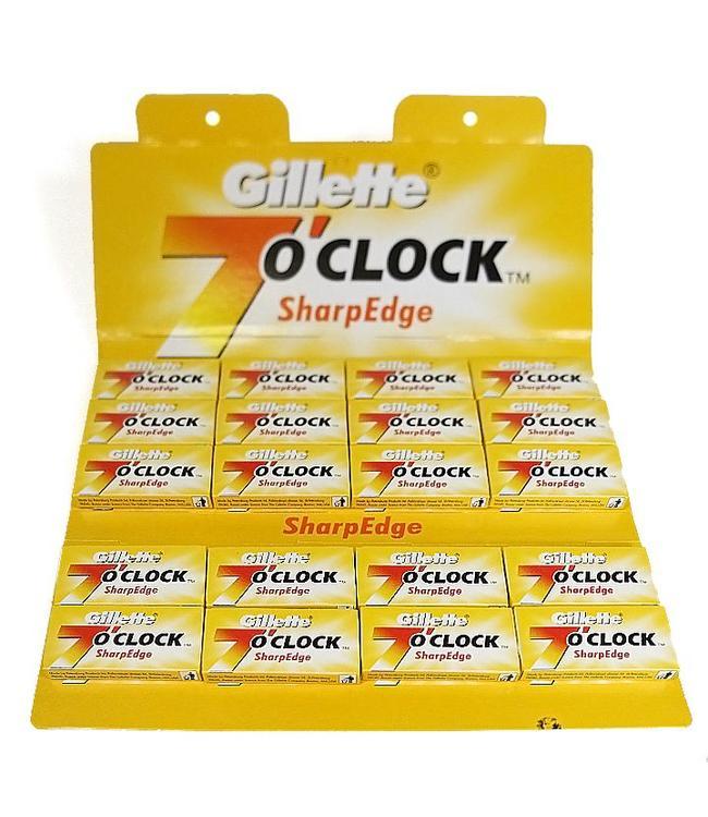 Gillette 7 O'clock Sharp Edge Double Edge Blades (100 st)