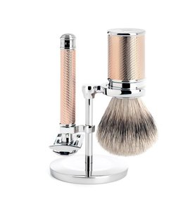 Muhle Set Safety Razor - Silvertip - Rose Gold (3-delig)