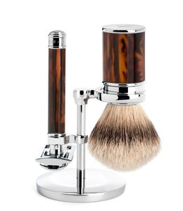 Muhle Set Safety Razor - Silvertip - Turtle (3-delig)