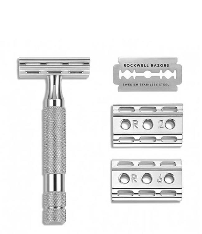 Rockwell Razors 6C Safety Razor - White Chrome
