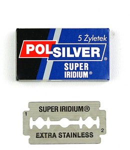 Polsilver Super Iridium Double Edge Blades (5 st)