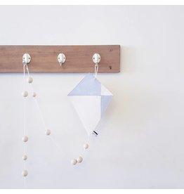 Bisou de Lou Kite | Hanger Grijsen wit