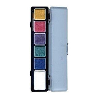 Schmink 6 kleuren metallic