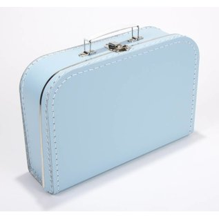 Koffertje effen babyblauw