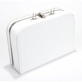 Koffertje effen wit