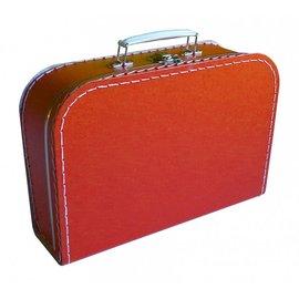 Koffertje effen rood